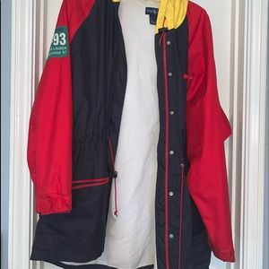 colorblock ralph lauren sweatshirt/rain jacket